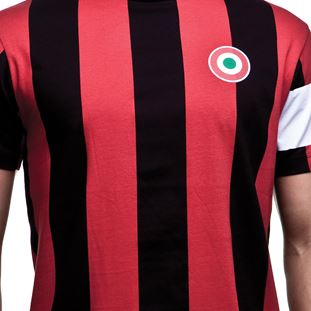 6590 | Milan Capitano T-Shirt | Black - Red | 2 | COPA