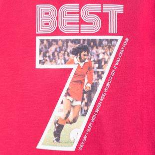6753 | George Best Miss World V-Neck T-Shirt | Red | 2 | COPA