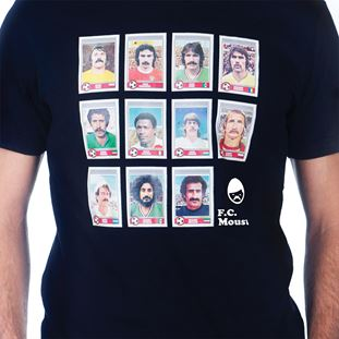 6696 | Moustache Dream Team T-Shirt | Black | 2 | COPA